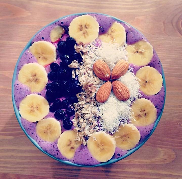 Smoothie bowls de frutosrojos