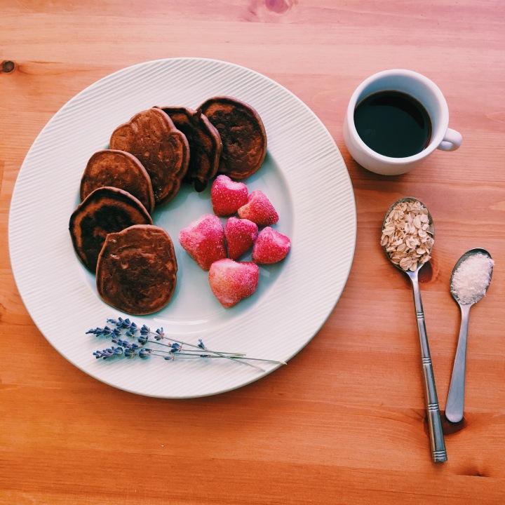 Mini pancakes esponjosos + ingredienteanticancerígeno