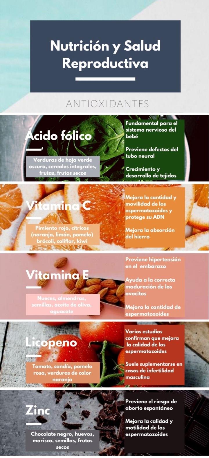 Nutrición y fertilidad: la importancia de losantioxidantes